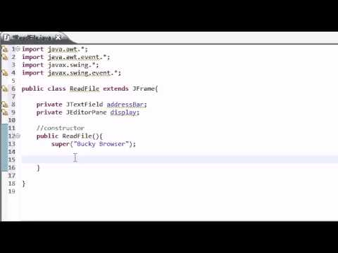 Intermediate Java Tutorial - 34 - Creating a Simple Web Browser