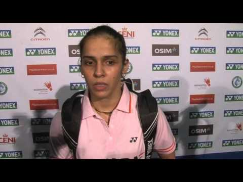Indian badminton star Saina Nehwal - 2013 Yonex All England Open interview