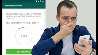 WhatsApp Temporarily Banned Problem solve | How To Unbanned Whatsapp Temporarily Banned Account