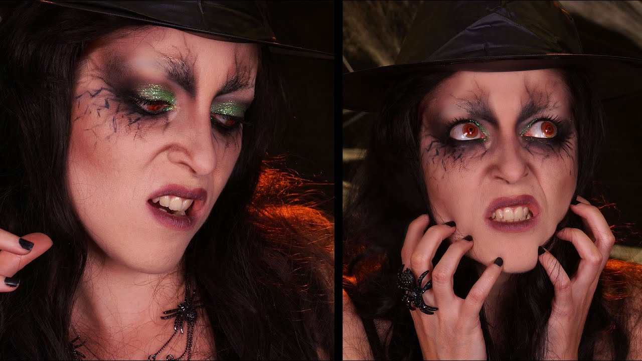 Maquillage Halloween La Sorci Re Mal Fique Youtube