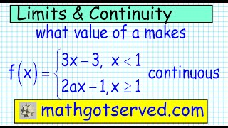 making a function continuous removing discontinuity calculus precalculus