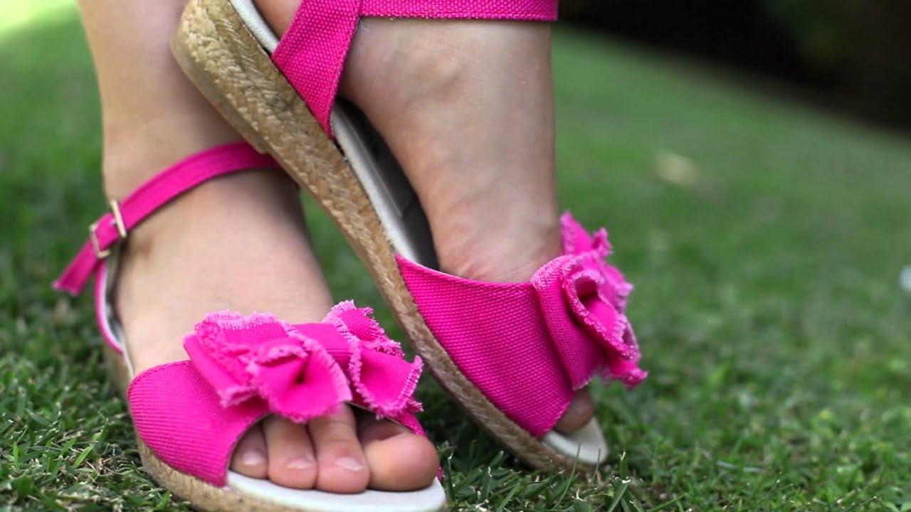 Sandalias de lona para ni as y mam s zapatos online - Ideas para decorar zapatos de nina ...