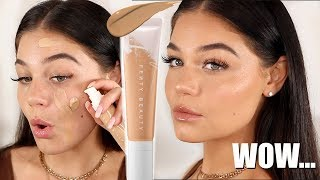 NEW FENTY BEAUTY HYDRATING FOUNDATION REVIEW + WEAR TEST! | Blissfulbrii