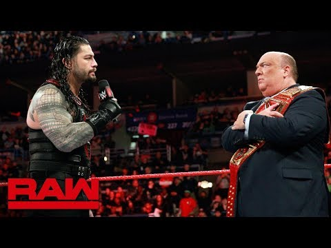 Paul Heyman responds to Roman Reigns: Raw, March 5, 2018 thumbnail