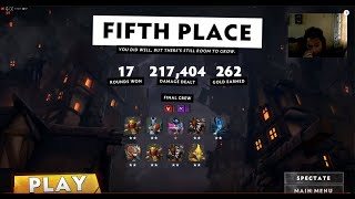 Underlords - Promoted to Upstart Level IV - Tried Assasins Combo on 2nd game