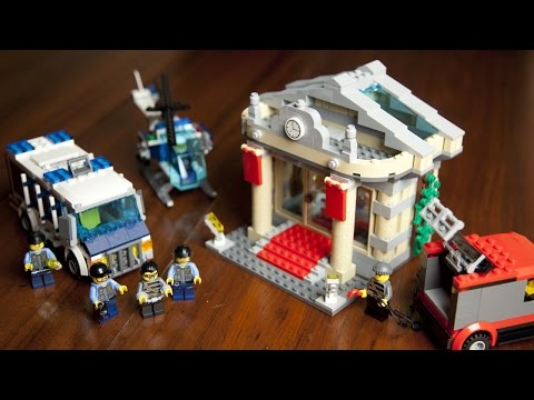 Lego City 60008 Museum Break-In Unboxing - Build - Review