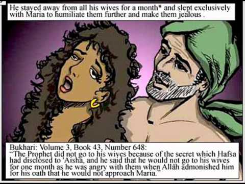 Muhammad practised Polygamy with more than 7 wives incl Maria, Zaynab and Aisha