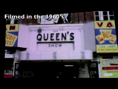 http://www.HolidayInBlackpool.com The Queens Theatre or Queens Show is now TKMaxx. All the top acts played there including The Beatles, Morecambe and Wise, Mike Yarwood, Jack Douglas, Hylda...