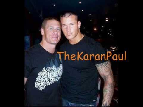 존 시나의 사진과 그의 친구  Randy Orton