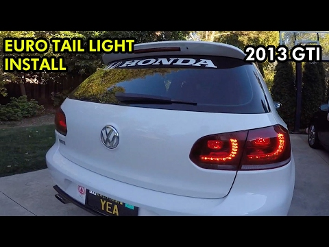 Vw Gti Euro Switch With Hella Black And Clear Tail Lights