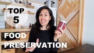 TOP 5 TOOLS for FOOD PRESERVATION