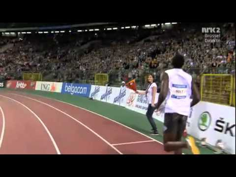 Usain Bolt 100m Brussels Diamond Leauge 2011 9.76 (WL)