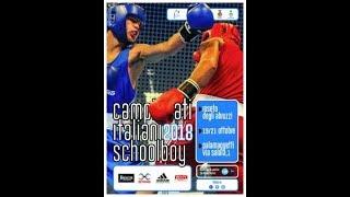 Finali Campionati Italiani SchoolBoy 2018 - QUARTI DI FINALE SESSIONE MATTUTINA