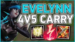 HARD CARRYING A 4V5! Evelynn is a 1V9 MONSTER CHAMP - League of Legends