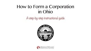 How to Incorporate in Ohio