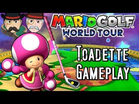 Mario Golf World Tour TOADETTE Gameplay! DLC Mushroom Pack!