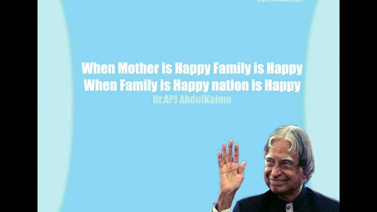 Abdul Kalam Quotes Motivational Quotes Of India S Former President Dr A P J Abdul Kalam Youtube