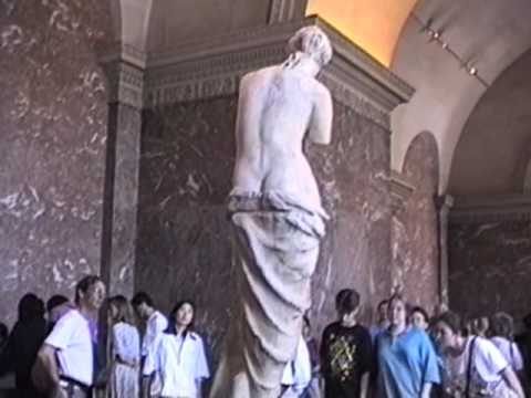 Visiting the Venus De Milo at the Lourve. 7/1/94.