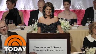 Nikki Haley Quips About President Donald Trump At Alfred E. Smith Dinner   TODAY