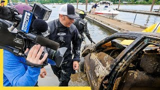Cars Found in River 30' Deep While Scuba Diving.. HONDA, JAGUAR & FORD