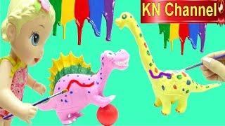 Đồ chơi trẻ em KN Channel LÀM ÁO CHO KHỦNG LONG CỰC ĐẸP