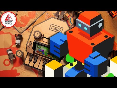 Nintendo LABO Robot Kit LIVE! (Unboxing + Build)