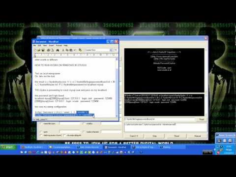 Crack mysql with THC-Hydra GUI for Windows XP/7/8