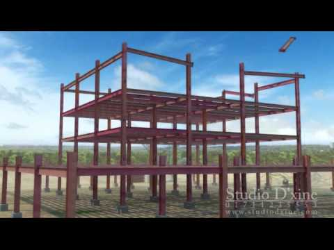 Buildtrade steel construction process youtube for Order of building a house