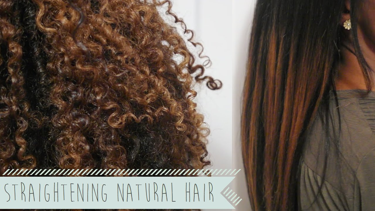 Straightening Natural Hair A Review YouTube