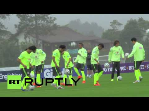 Brazil: World Cup team starts training despite protests
