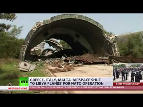 Greece, Italy and Malta close Off airspace to Libyans amid NATO operation rumors