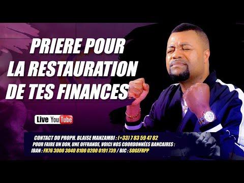 Prière pour la restauration de tes finances # Prophète Blaise Manzambi #CASARHEMA