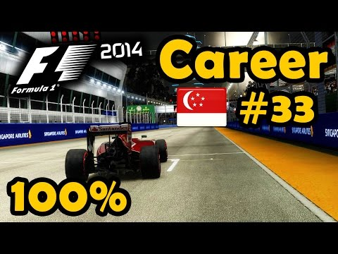 F1 2014 Career Part 33 - 100% Singapore Grand Prix Race - Ultra Mod