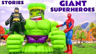Giant Superheroes Video - Avengers Hulk Minions Batman Cars Thomas and Friends Spider-Man TMNT