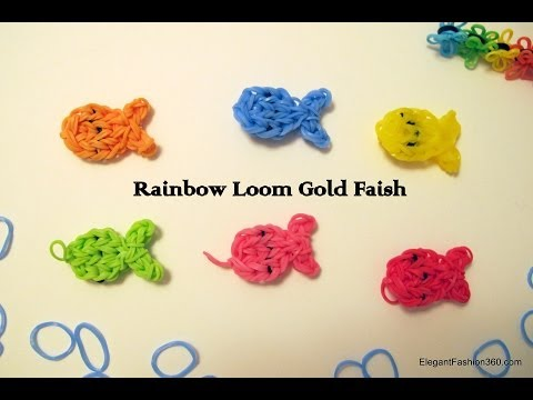 How to make Rainbow Loom Goldfish Charms