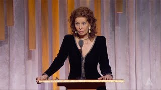Sophia Loren honors Lina Wertmüller at the 2019 Governors Awards