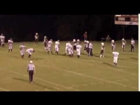 Clay Elam # 27 in the  Magoffin Co. at Leslie County High School game  August 2012