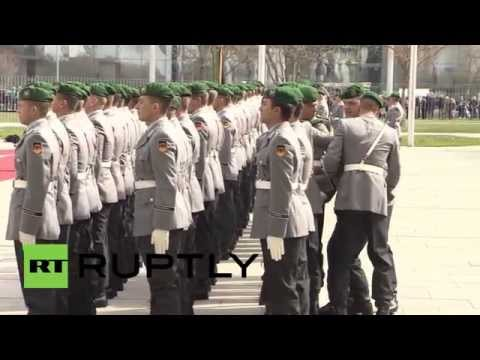 Germany: Soldier faints awaiting Indian PM Modi's arrival for Merkel meeting
