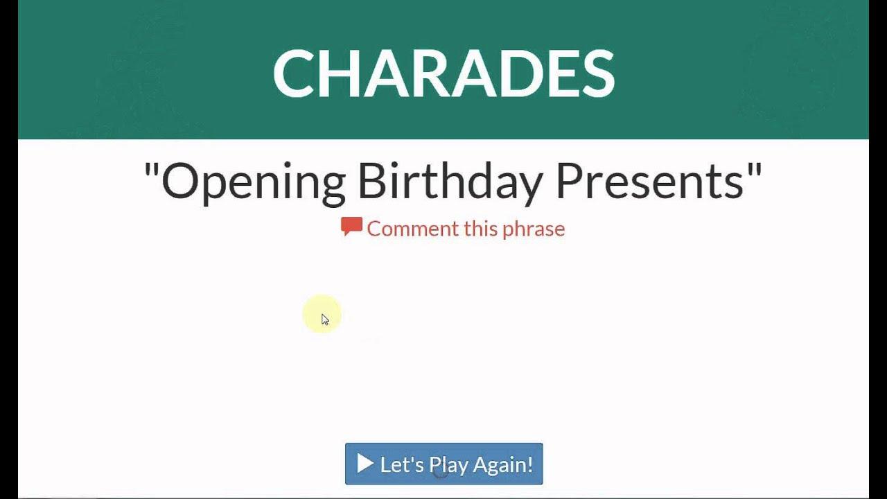 Charades generator