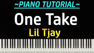 Lil Tjay - One Take (Piano Tutorial)