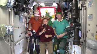 Экипаж МКС поздравляет калужан с Новым 2015 годом