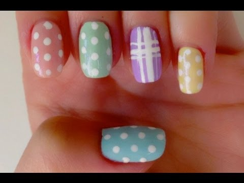Nail Designs Stripes And Dots Dots Stripes Nail Design