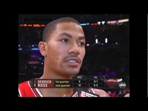 Derrick Rose Vs Kobe Bryant Highlights *christmas Day 2011 *drose Clutch Shot video