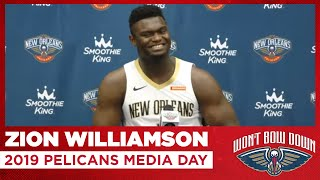 Zion Williamson Interview from 2019 Pelicans Media Day | New Orleans Pelicans