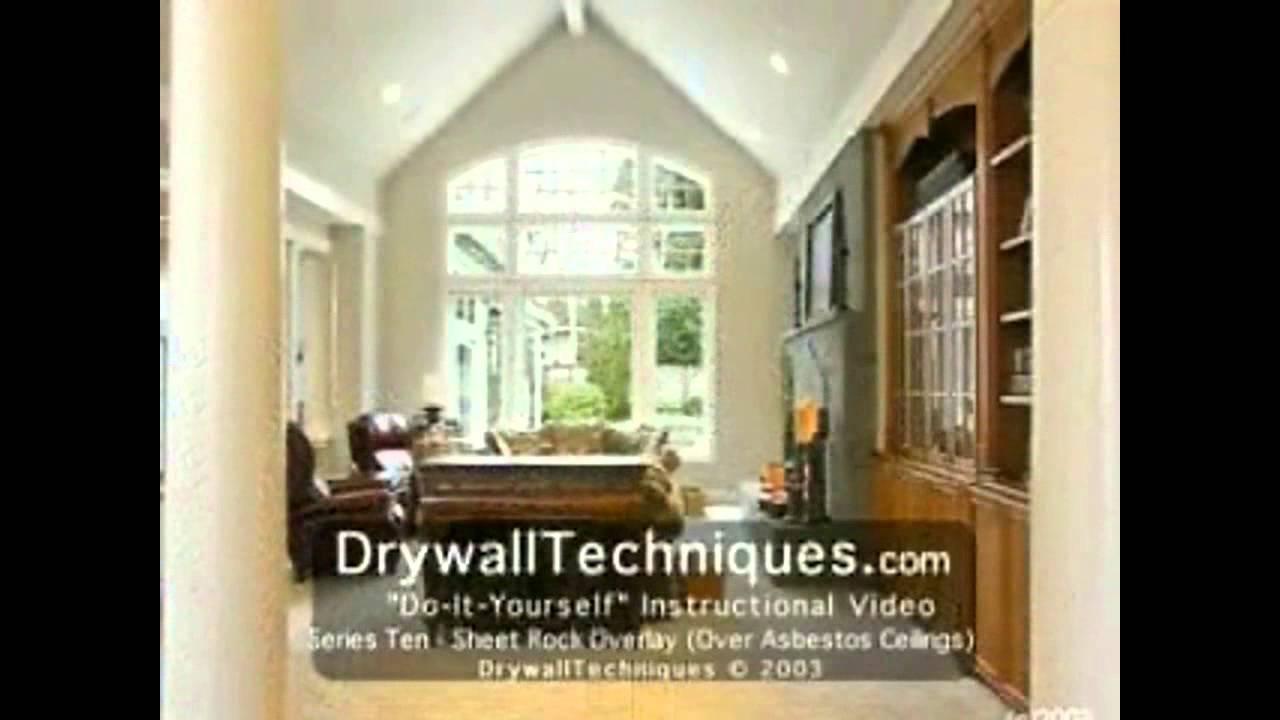 Drywall Drywall Overlay Over Asbestos