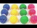 Learn Colors Mesh Squishy Balls Super Kinder Joy Surprise Toy Appliance Playset for Kids Baby Songs MP3