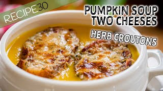 Two Cheese Creamy Pumpkin Soup Italian Style