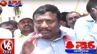 Unseasonal Rains Damages Crops   Farmers Protest In Telangana   Teenmaar News