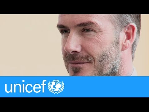 David Beckham makes a passionate appeal for children at the UN | UNICEF