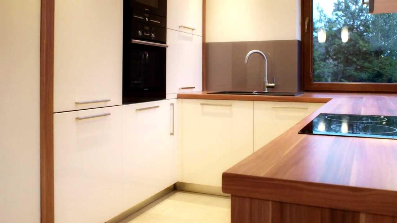 Meble do kuchni lakierowane Ecru beż w Krakowie  Projekty   -> Kuchnia Czarno Ecru